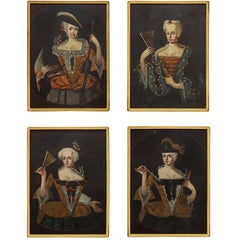 Continental Collection of 18th Century Paintings of Ladies