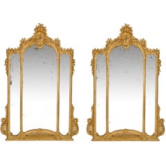 Pair of Italian, late 19th Century/early 20th century Louis XV Style Mirrors