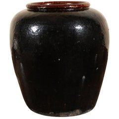Massive Glazed Pottery Vase