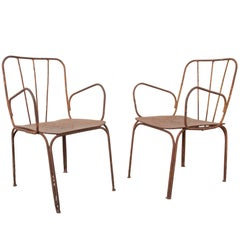 Pair of Early 20th Century French Metal Chairs