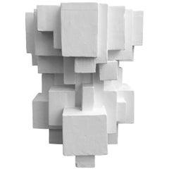 Custom Geometric Plaster Side Table by Dan Schneiger