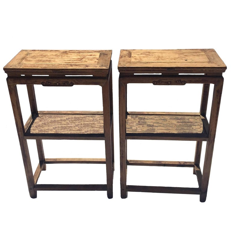 Pair of ming style chinese antique side tables for sale at for Antique chinese furniture styles