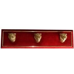 Neoclassical Bronze Lions Coat Rack