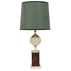 French Silver Trophy Table Lamp