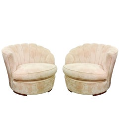 Pair of 1940s Deco Slipper Chairs
