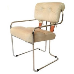 """Guido Faleschini Italian Leather """"Tucroma"""" Chair by i4 Mariani for Pace"""