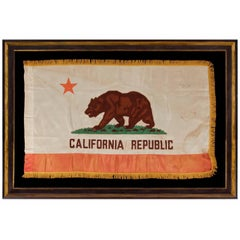 California State Flag, with Attractive Coloration and Gold Silk Fringe