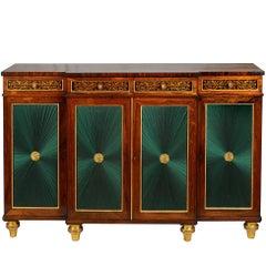 Regency Period Rosewood Break Fronted Chiffonier or Side Cabinet