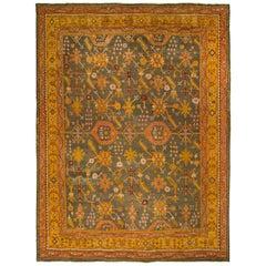 Large Antique All-Over Design Oushak Rug