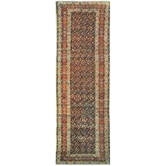 Antique Persian Kurdish Runner Rug
