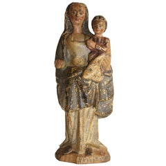 Madonna with Child, Flemish/Spanish, 17th Century