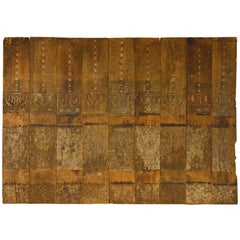 Andrianna Shamaris Ancient Hand-Carved Wooden Panel