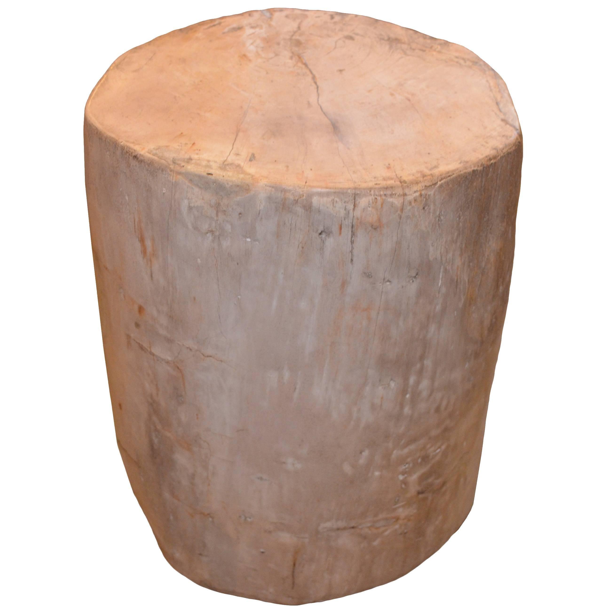 Petrified Wood Side Table Image Petrified Wood Side Table Gold