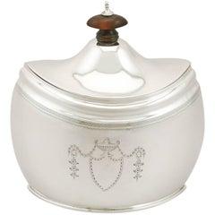 1900s Edwardian Sterling Silver Tea Caddy by Edward Barnard & Sons Ltd