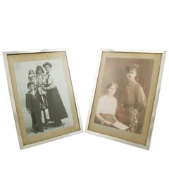 1910s Pair of Sterling Silver Photograph Frames