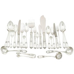 1910s Sterling Silver Canteen of Cutlery for Eight Persons