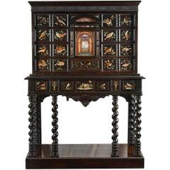 Italian Pietra Dura Cabinet on Stand, 18th Century
