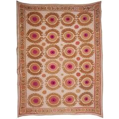 Mid-20th Century Uzbek Samarkand Cotton Suzani