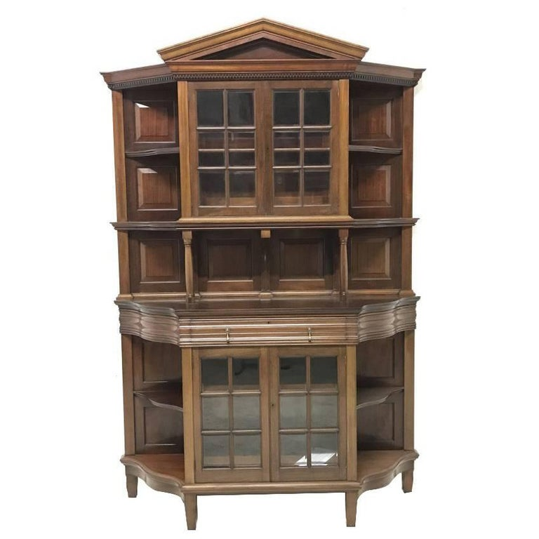 Morris & Co. Fine Mahogany Glazed Bookcase Designed by George W Jack For Sale