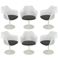 Eero Saarinen Set of Six Tulip Armchairs, 1960s