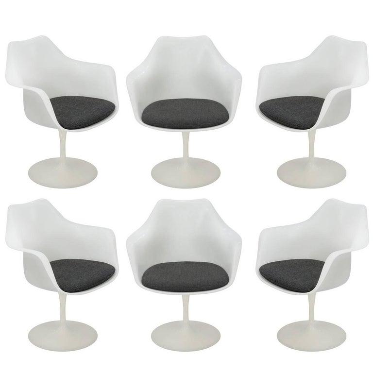 Eero Saarinen Set of Six Tulip Armchairs, 1960s