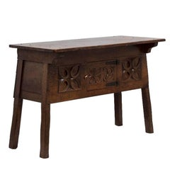 Arts & Crafts Oak Side Table, circa 1890