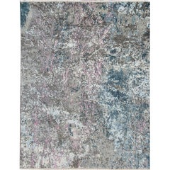 21st Century Contemporary Abstract Multicolored Indian Rug