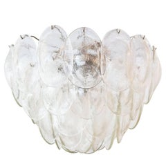 Large Murano Glass Turtle-Back Chandelier by Vistosi