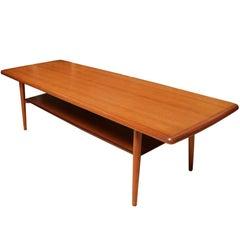1960s Svend Aage Madsen Teak Coffee Table for Karl Lindegaard