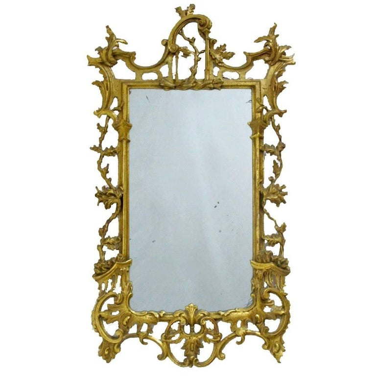 18th Century Italian Rococo Gilt Mirror For Sale