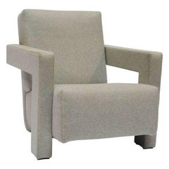 """Armchair """"Utrecht"""" by Manufacturer Cassina in Steel Finished in Fabric"""