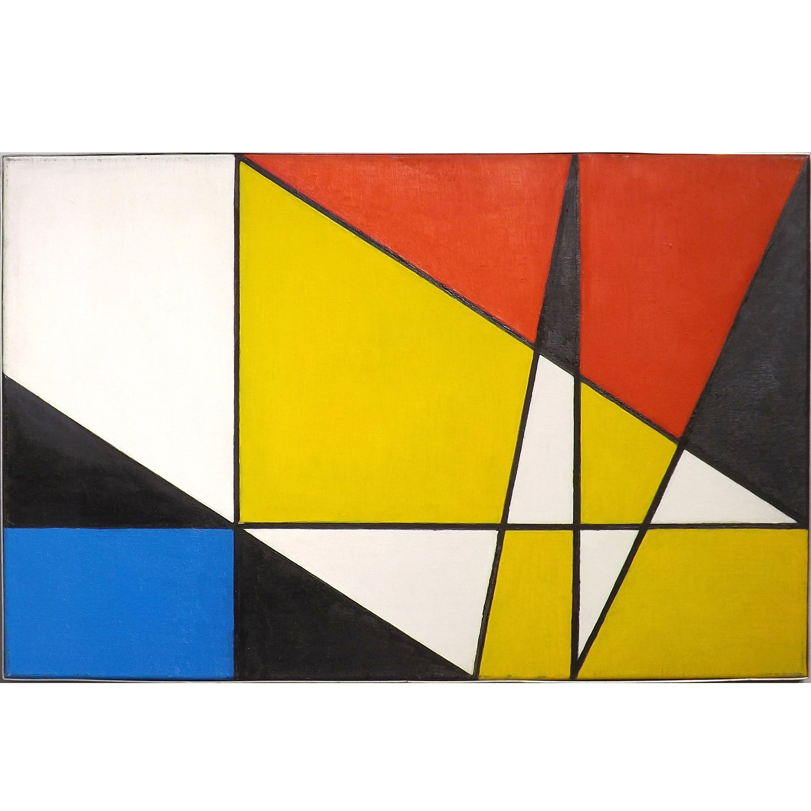 Abstract Oil Painting by Johanna Bal in the Style of Piet Mondrian ...