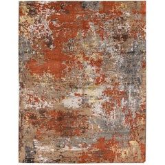 21st Century Contemporary Abstract Multicolored Indian Rosewood Rug