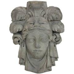 Plaster Relief of a Roman Goddess