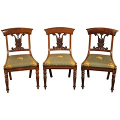 Set of Three Regency Rosewood Side Chairs
