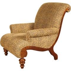 Animal Print Upholstered Armchair