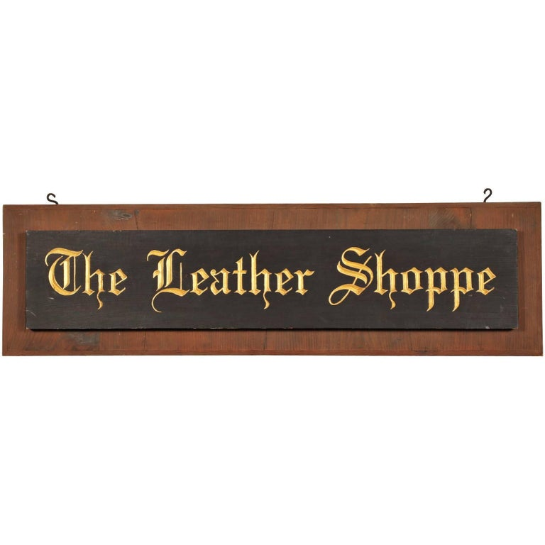 Leather Trade Sign