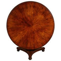 Regency Rosewood Tilt-Top Center Table, circa 1840