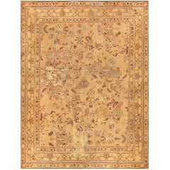 Large Shabby Chic Antique English Carpet. Size: 12 ft x 15 ft 9 in
