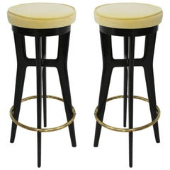 Pair of Stools, Italy, 1950s