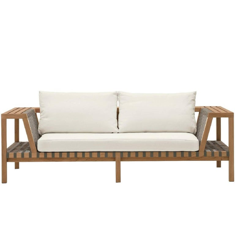 Roda Network 120 Outdoor Teak Sofa For Sale