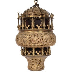 Antique Middle Eastern Lantern Fixture