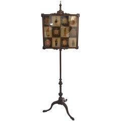 Queen Anne Boston Mahogany Fire Pole Screen