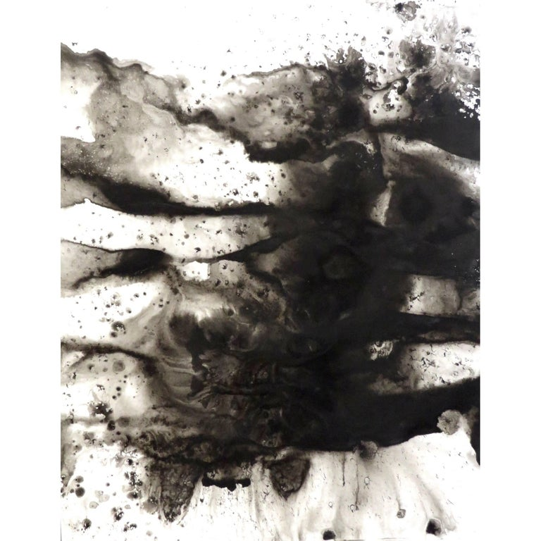 """Contemporary Artist Cleveland Dean """"Impressions"""" Sumi Ink Drawings 2017"""