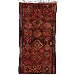 Vintage Berber Moroccan Rug with Tribal Boho Chic Style