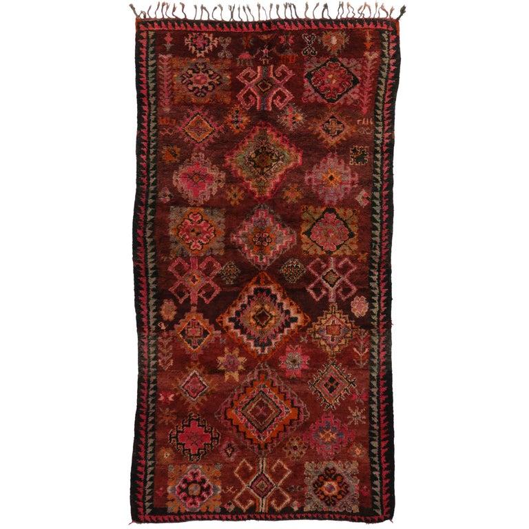 Vintage Berber Moroccan Rug With Modern Tribal Design For