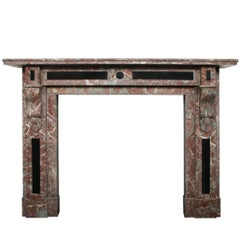 Late 19th Century Louis XVI Style Antique Marble Fireplace Surround