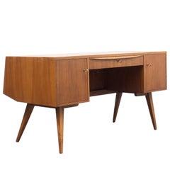 1950s Desk, Walnut, Franz Ehrlich