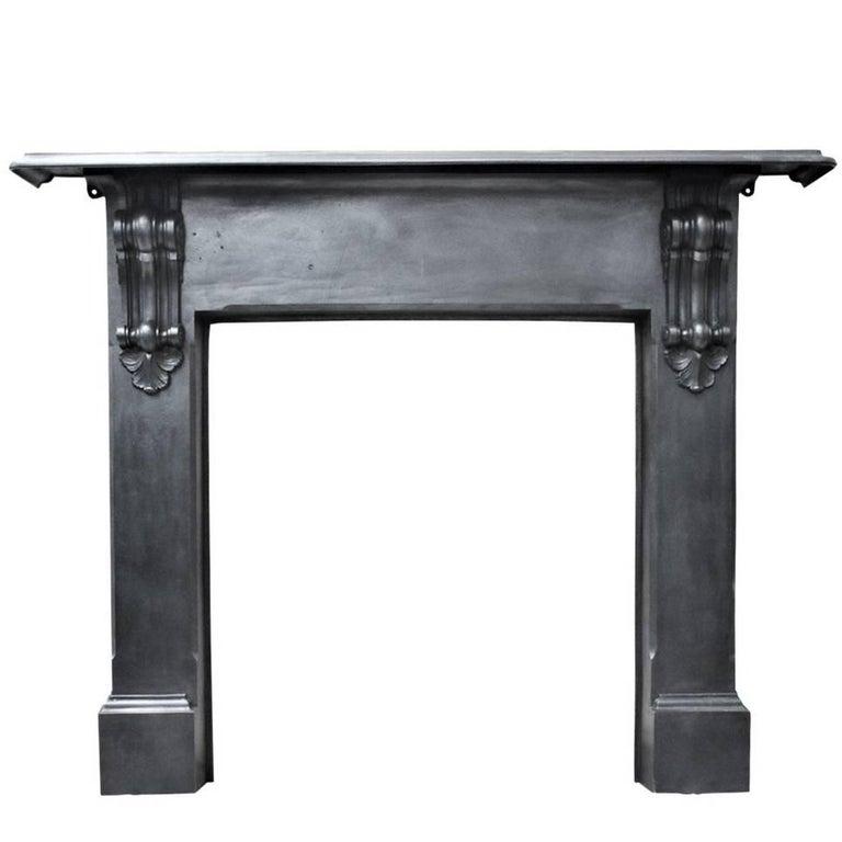 Reclaimed 19th Century Cast Iron Fireplace Surround