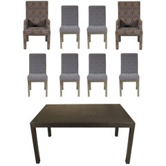 Modern Dining Set with Eight Chairs